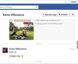 Private Message from Kevin Villanueva